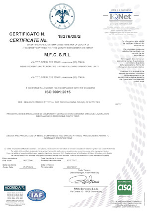 certificazione qualita uni en iso 9001 001